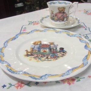 Cup, Saucer & Plate Teddy Trio