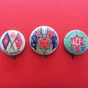 Australian Comforts Fund Badge Trio