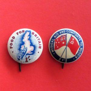 Australian Aid for Allies Badge Duo
