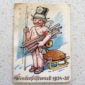 German Winter Charity Relief Postcard
