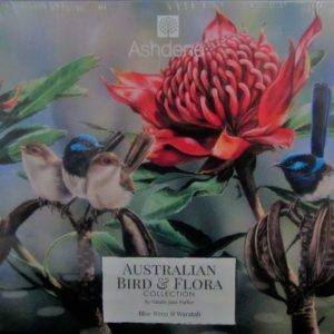Jigsaw Blue Wrens & Waratah – by Natalie Jane Parker