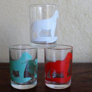 Swanky Swig Sample Size Trio Glasses – Dogs