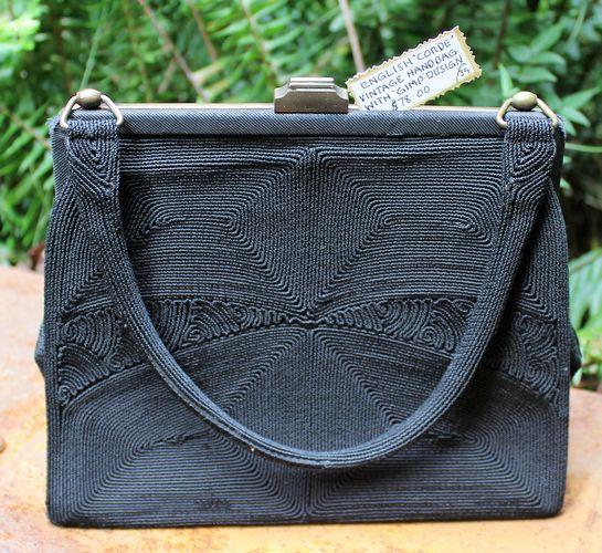 Vintage Black Handbag -