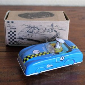 Blue Race Car – Tin Toy