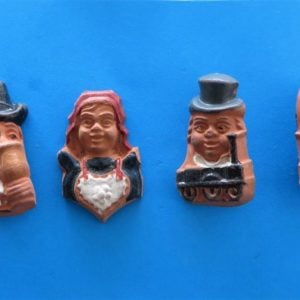 morpeth antique centre hunter valley third reich germany whwwinter charity relief winterhilfswerk donation badge tinnie pottery town folk personalities pottery hand painted