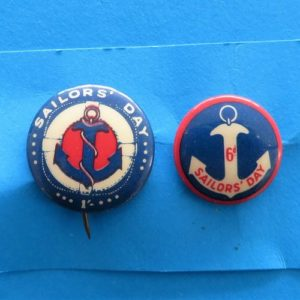 Australian WWII Sailor's Day Badge Duo