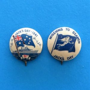 WWII Jack's Day Badge Duo