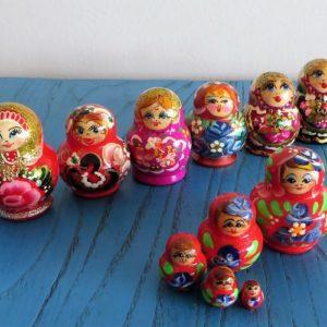 Matryoshka Doll – Red, Pink, Purple Tones