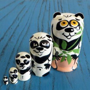 morpeth gift gallery hunter valley matryoshka dolls babushka nesting russian made set five ten hand painted panda mother's day