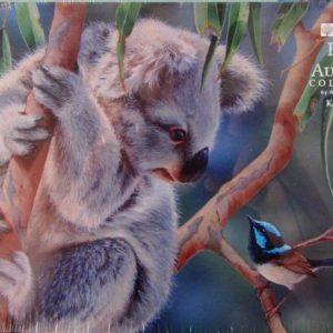 Jigsaw Puzzle Koala & Wren – by Natalie Jane Parker.