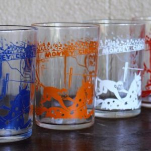 Circus Monkey Glass Set