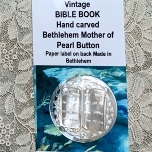 Bethlehem Carved Pearl Vintage Button – Bible