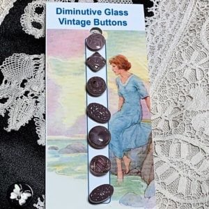 Diminutive Glass Buttons – Dusty Mauve