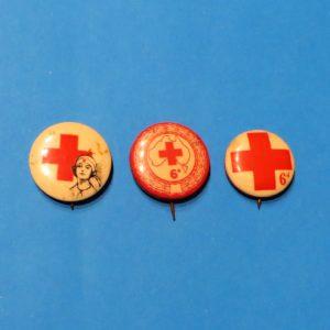 Australian Red Cross Badge Trio