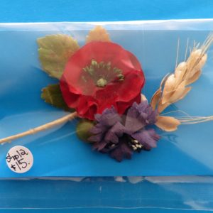 German Charity Poppy & Cornflower Sprig