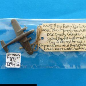 German Charity Relief Token – Plane