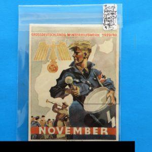 German Charity Relief Paper/Sticker – November