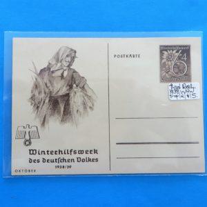 German Charity Relief Postcard – October