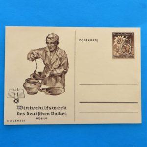 German Charity Relief Postcard – November