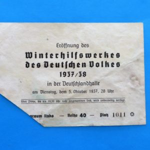 German Charity Relief Ticket to Opening of Season