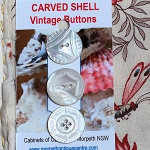 Carved Shell Buttons x 3