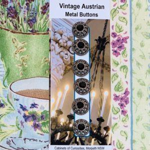 Austrian Metal Buttons x 6