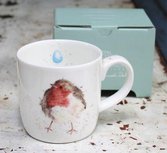 morpeth gift gallery hunter valley garden friend robin wrendale royal worcester fine bone china mug coffee tea hot chocolate .31 litre 11 oz ounce