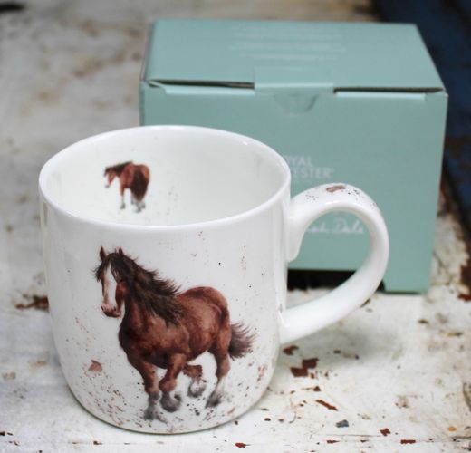morpeth gift gallery hunter valley horse gigi wrendale royal worcester fine bone china mug coffee tea hot chocolate .31 litre 11 oz ounce