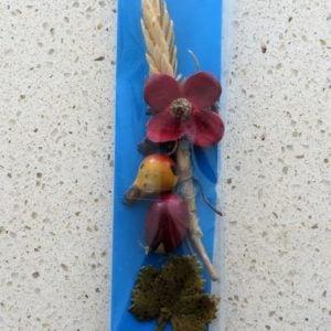German Charity Flower & Fruits Pin