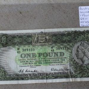 Australian One Pound Note 1953