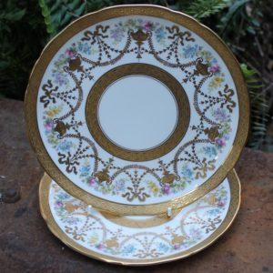 Heavily Gilded 'Cauldron' Plates