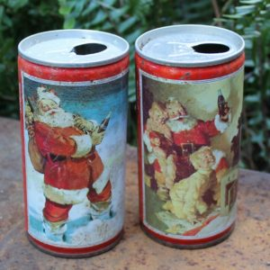 Coca Cola Christmas Can Pair