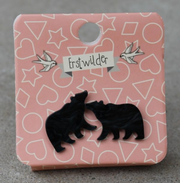 morpeth antique centre hunter valley erstwilder woodlands collection mama bear black grizzly yogi earrings brooch necklace scarf retro pin up collectable