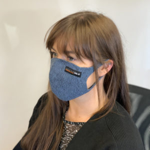 Face Mask – Blue Marl with Filter