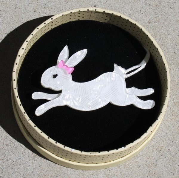 morpeth antique centre hunter valley erstwilder enamel pin doggo darkness earring brooch necklace fan favourites marshmallow rabbit hare running white retro pin up collectable
