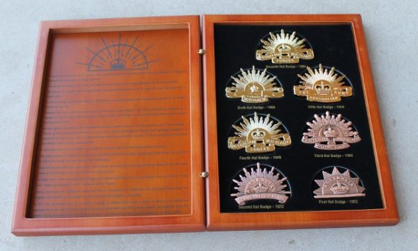 morpeth antique centre gift gallery hunter valley ANZAC Australian hat badge collection rising sun military shop