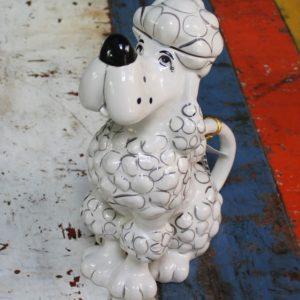 White Poodle Teapot