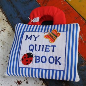 Cloth Book – Quiet Book Blue/White Stripe