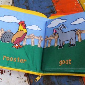 Cloth Book – Barnyard Pets