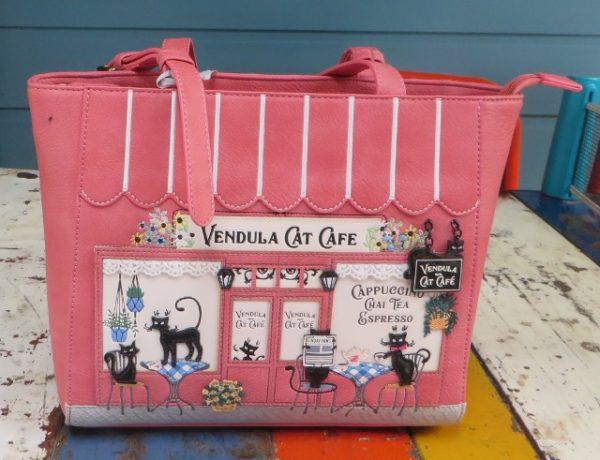 morpeth gift gallery hunter valley vendula london cat cafe shopper handbag vegan friendly leather collectable