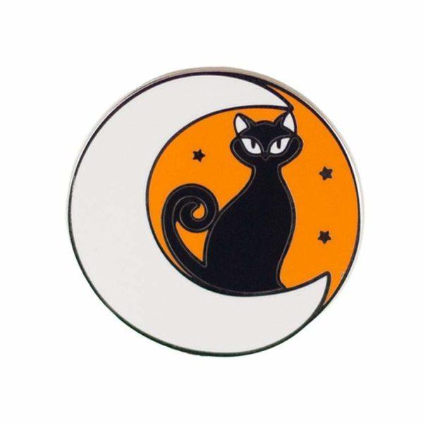 Erstwilder Enamel Pin - Cara the Halloween Kitty -