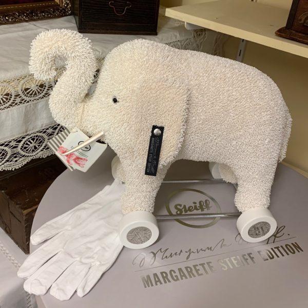 morpeth teddy bears Steiff elephant on wheels club exclusive paper