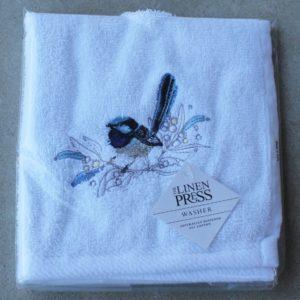 Face Washer – Blue Wren