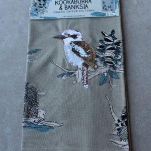 Teatowel – Kookaburra & Banksia