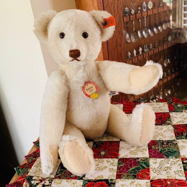 morpeth teddy bears Steiff Petsy 1928 replica white 2020