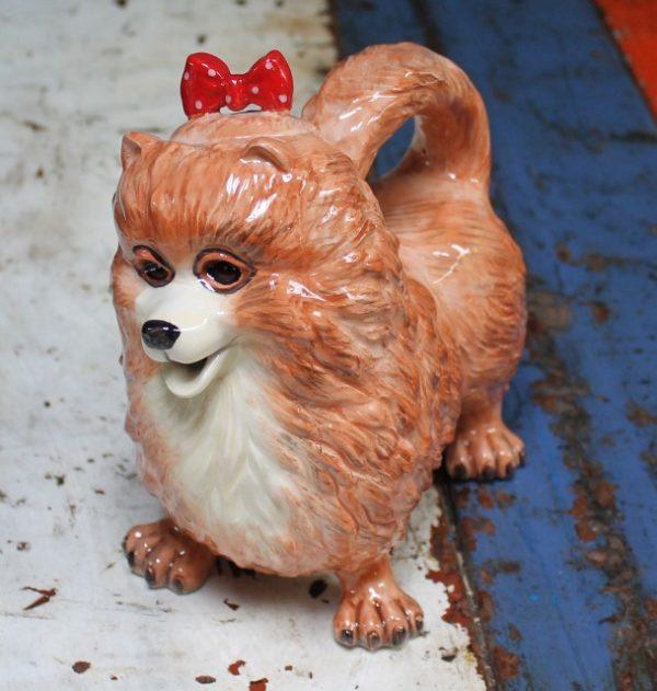 morpeth gift gallery hunter valley novelty teapot functional pomeranian dog