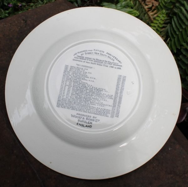 morpeth antique centre hunter valley governor of NSW Commemoration Plate with Booklet 150 years of progress 1788 1938