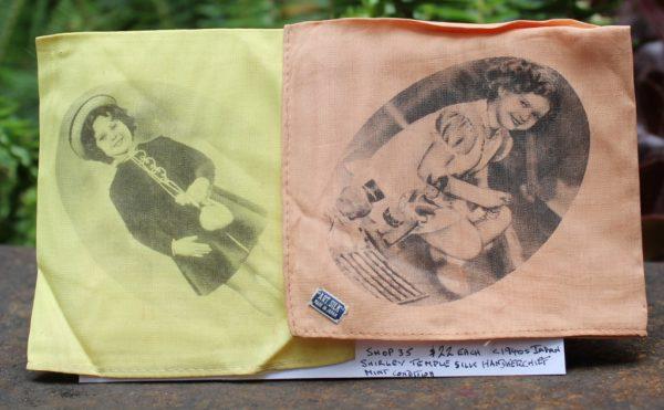 morpeth antique centre hunter valley shirley temple art silk hankies handkerchief