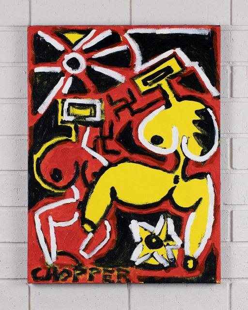 morpeth gallery hunter valley mark brandon chopper read underbelly nancy wake nazi swastika references von kelly original artwork