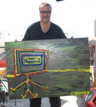 morpeth gallery hunter valley mark brandon chopper read underbelly ned on a windy windey day kelly original artwork